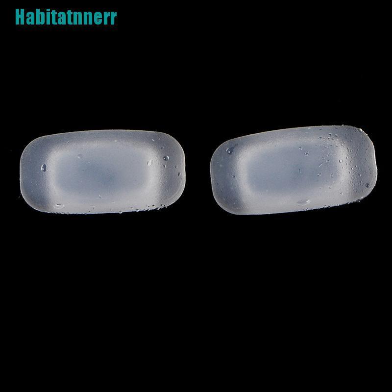 【Habitatnnerr】5 Pairs silicone eyeglass sunglasses glasses nose pads soft rectangle vision