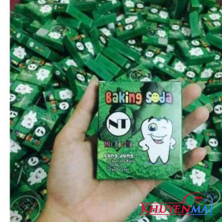Baking Soda Bạc Hà Trắng Răng 50g- DẠNG HỘP- MẪU MỚI