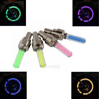Color Bike/Bicycle/Cycling/Car Tyre Wheel Valve LED Flash Light Neon Lamp