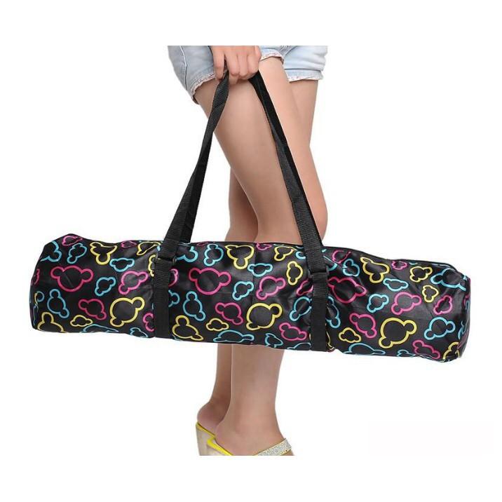 Túi Đựng Thảm Tập Yoga Đen Họa Tiết Màu Sắc