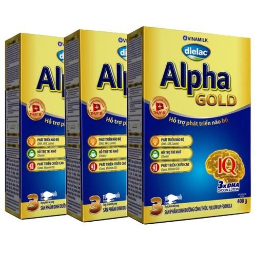 Combo 3 hộp Sữa bột Dielac Alpha Gold Step 3 - Hộp giấy 400g - 3494378 , 844466493 , 322_844466493 , 246000 , Combo-3-hop-Sua-bot-Dielac-Alpha-Gold-Step-3-Hop-giay-400g-322_844466493 , shopee.vn , Combo 3 hộp Sữa bột Dielac Alpha Gold Step 3 - Hộp giấy 400g