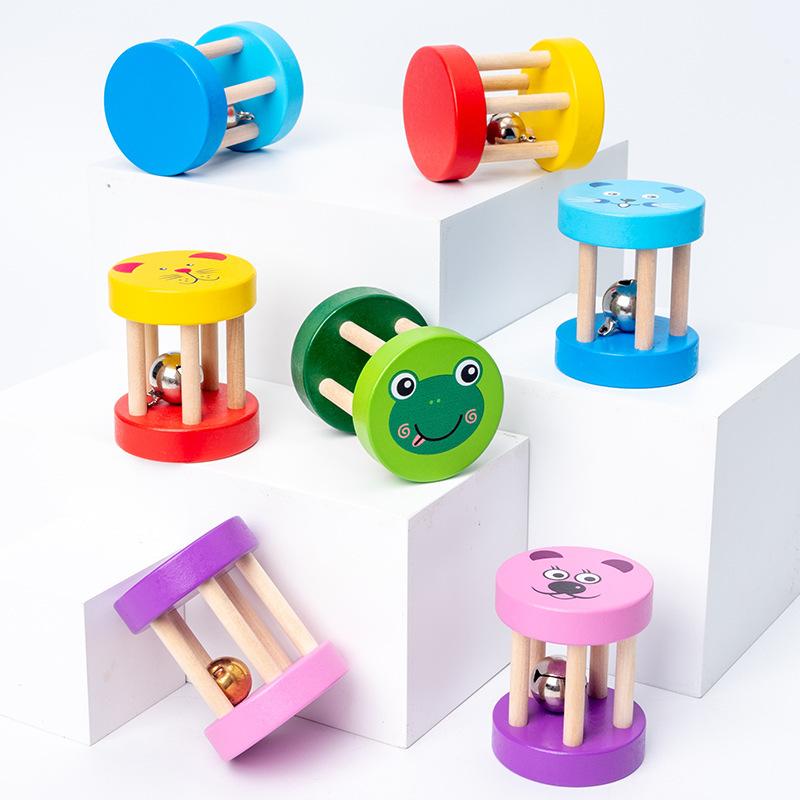 Lục lạc bằng gỗ hoạt hình cho bé Đồ chơi giáo dục dành cho trẻ nhỏ Nhạc cụ Orff cho...
