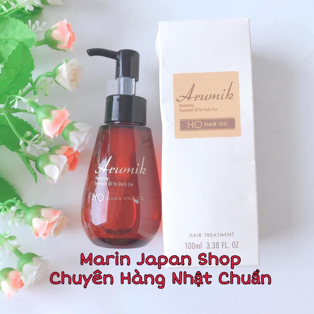 (Chuẩn Nhật) Tinh dầu dưỡng tóc suôn mượt chắc khoẻ Arumik Nhật Bản