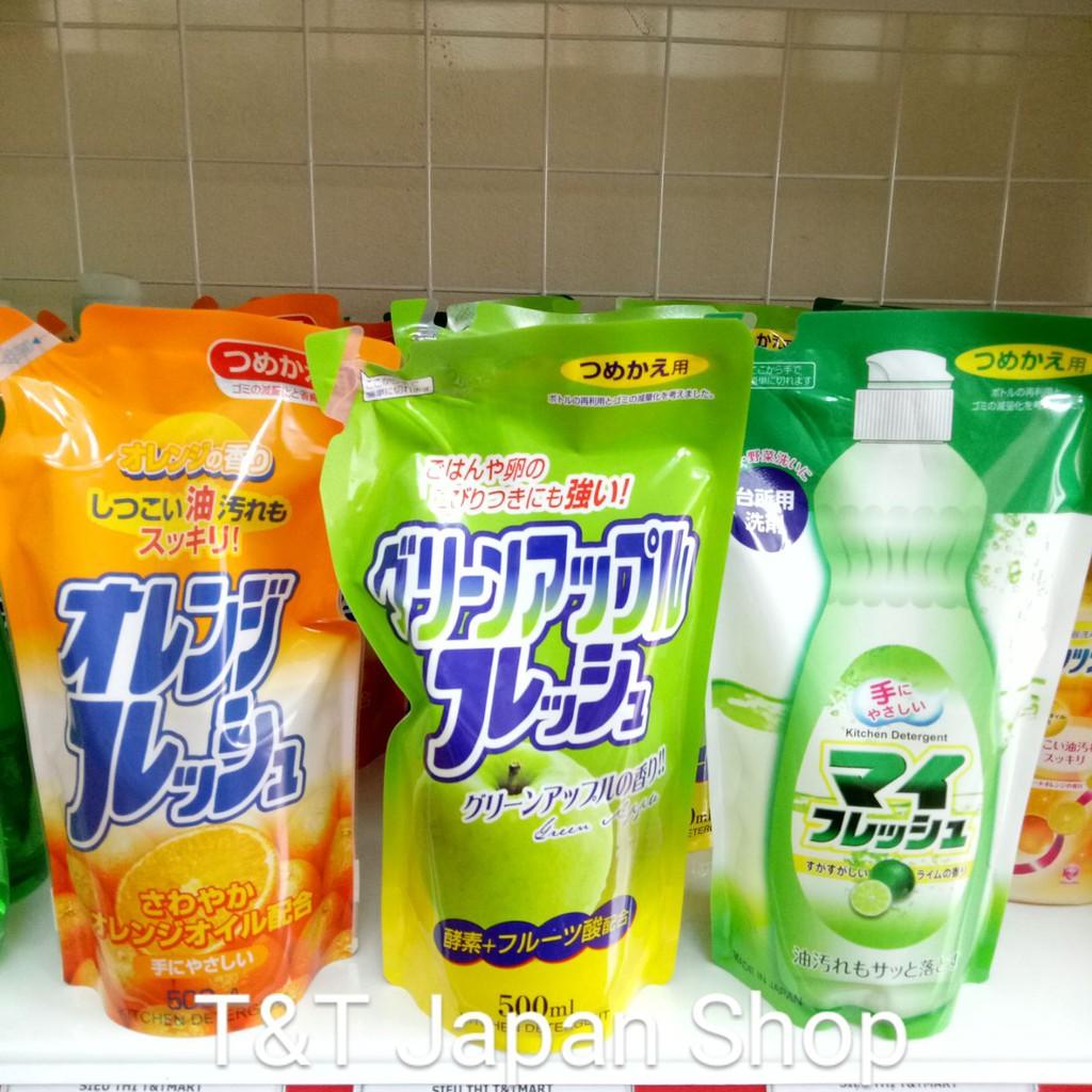 Nước rửa bát hữu cơ Nhật Bản Rocket túi 500ml