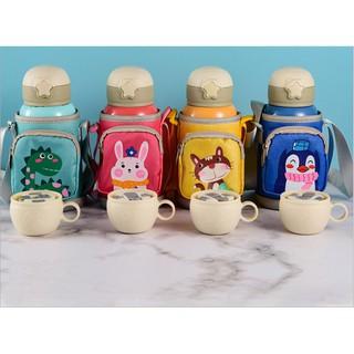 Bình nước giữ nhiệt Bình nước cho bé bình nước trẻ em inox 316 dung tích 600ml kèm túi đựng