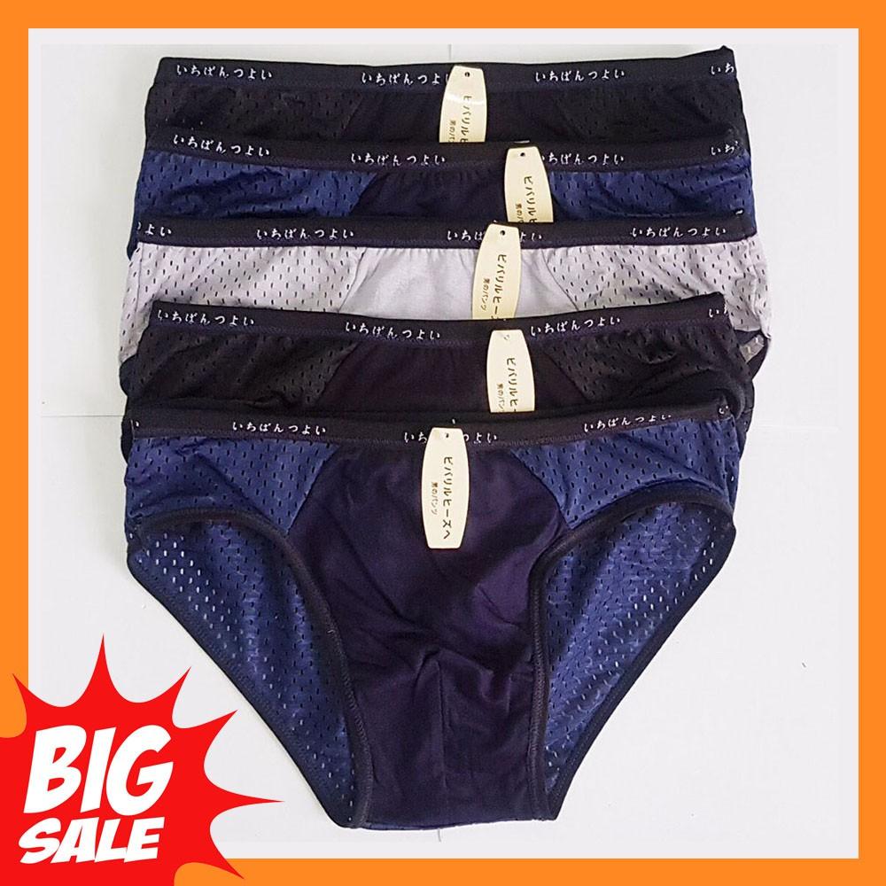 Quần lót nam muji xuất nhật cao cấp Hộp gồm 4 quần kiểu dáng quần sịp tam giác