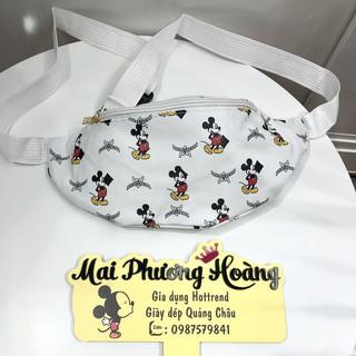 👣Xả Kho👣 Túi bao tử chất da PU in họa tiết chuột Mickey dễ thương kèm video và ảnh thật