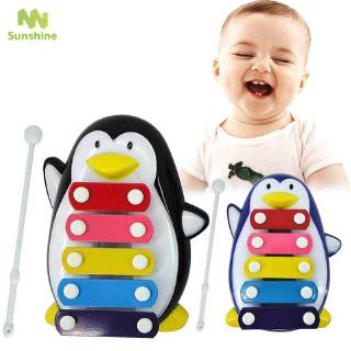 ♥♣♥ Five-Tone Penguin Piano Music Toy Baby Early Education Musical Instruments Children 's Toys Christmas Gifts