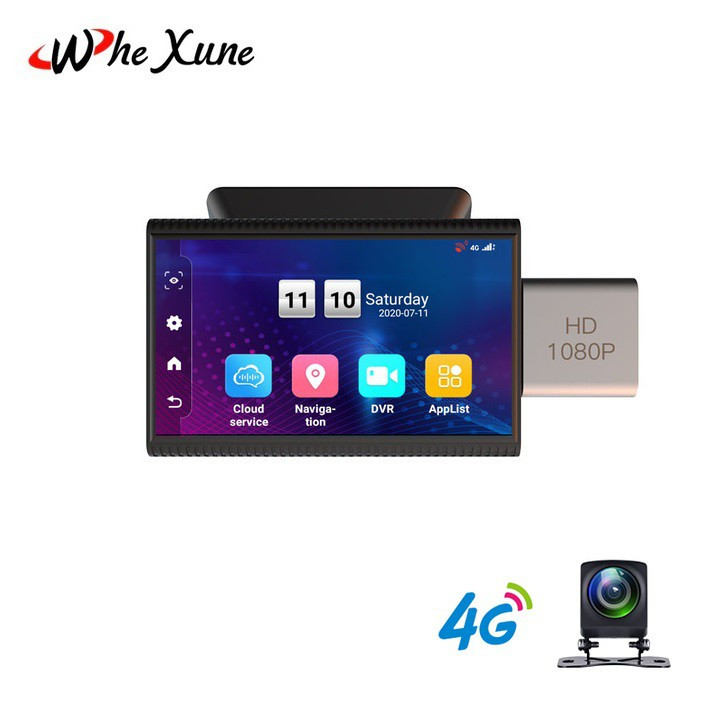 Camera hành trình ô tô cao cấp, thương hiệu Whexune F8, 4G, Wifi, 3 inch