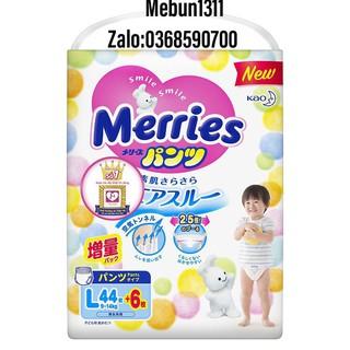 Bỉm Merries Cộng miếng Nội Địa Nhập khẩu dán quần NB90+6 S82+6 M64+4 L5+4 M58+6 L44+6 +6..... thumbnail