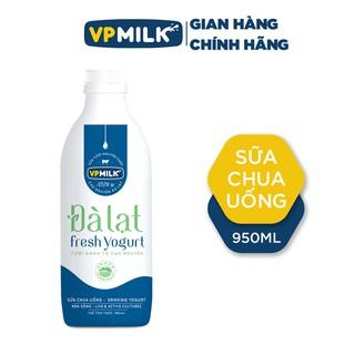 [INBOX TRƯỚC KHI MUA HÀNG] Sữa Chua Uống VPMilk Đà Lạt Fresh Yogurt chai 950ml, Men Sống Tự Nhiên