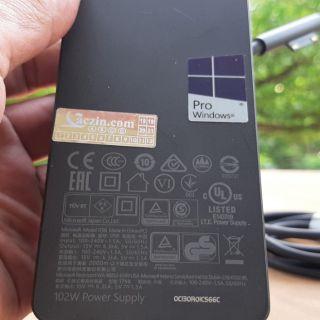 Sạc Microsoft Surface book 2 102w . chỉ bán hàng zin theo máy.