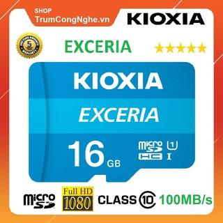 [Mã ELFLASH5 giảm 20K đơn 50K] Thẻ nhớ 16GB KIOXIA (Toshiba) Exceria microSDHC Class10 100MB/s Tốc Độ Cao
