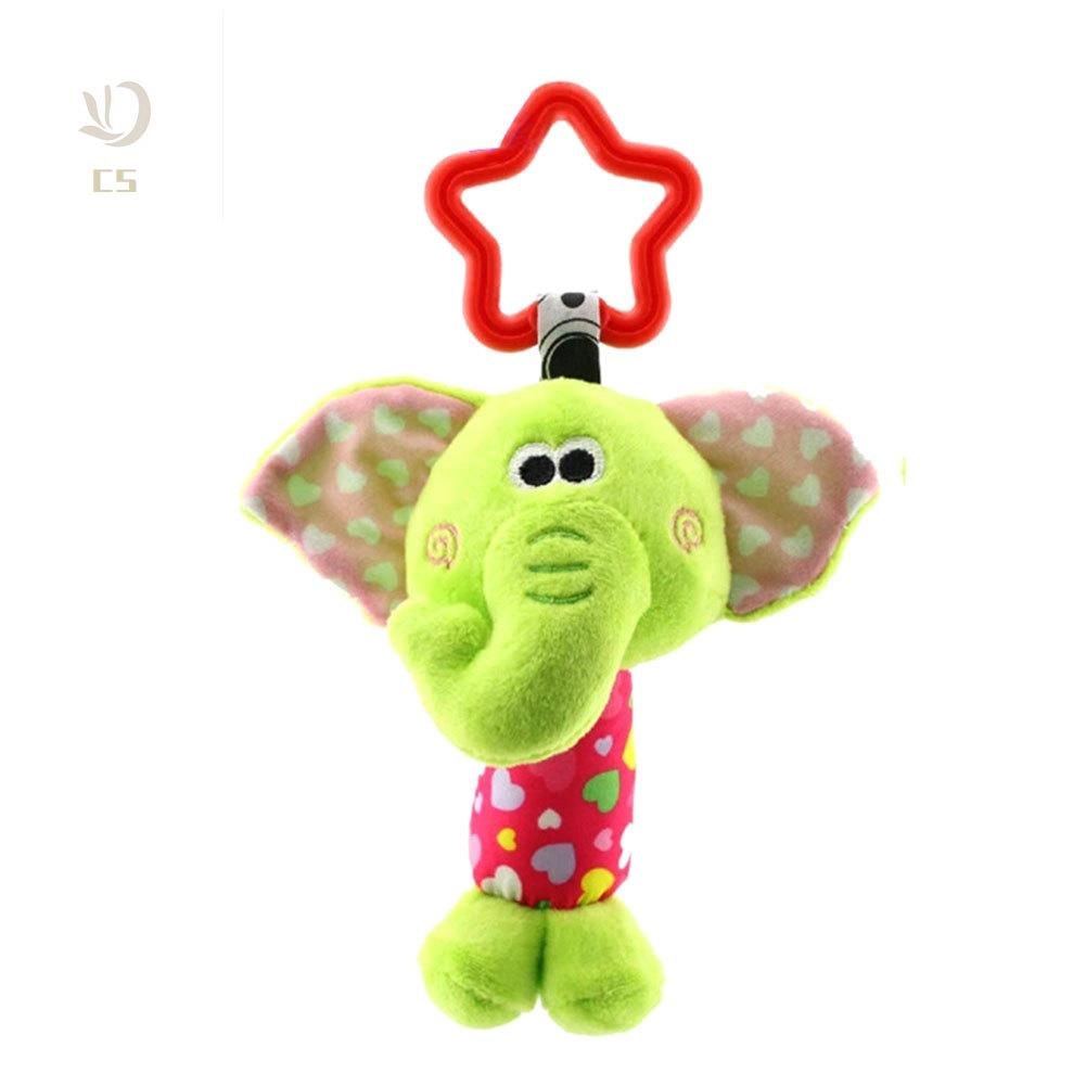 CS♥ Children Plush Toys Colorful Animal Hanging Bed Crib Stroller Appease Doll Rattle Grasping Toy Gift
