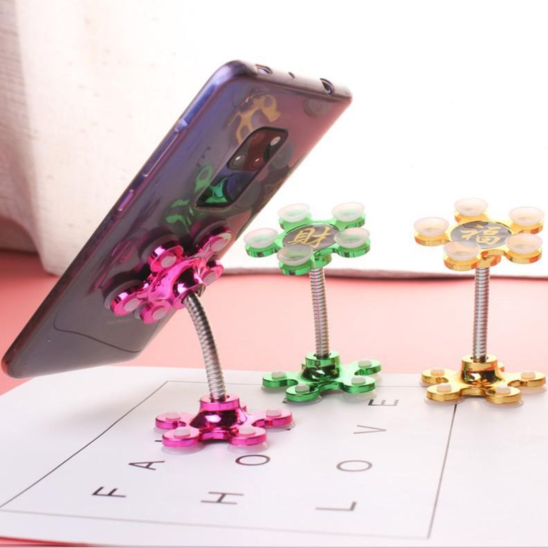 Giá đỡ điện thoại để bàn FREESHIPGiá hút chân không hình hoa mai nhỏ xinh (Tuyển Sỉ)