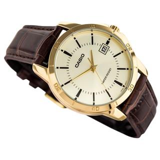 Đồng hồ nam dây da Casio Standard chính hãng Anh Khuê MTP-V004GL-9AUDF