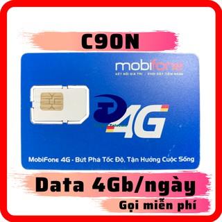 Sim 4G Mobifone gói C90N Data 120Gb tháng [4GB ngày] Miễn phí tháng đầu - Miễn Phí Gọi nội mạng + 50 phút liên mạng thumbnail