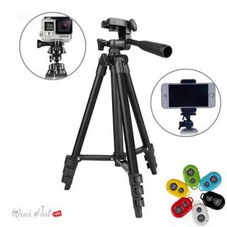 (TẶNG KÈM REMOTE BLUETOOTH) Gậy 3 chân chụp hình máy ảnh, điện thoại Tripod TF - 3120 loại tốt