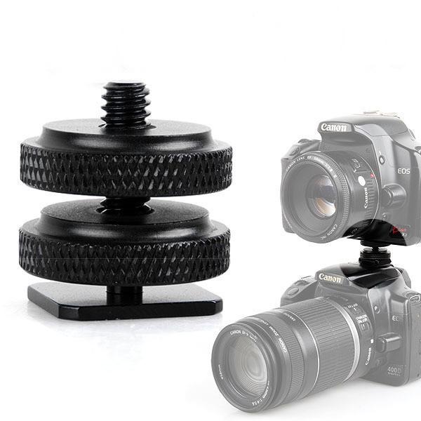 Phụ kiện gắn Gopro, sjcam vào chân Flash máy ảnh