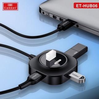 [Mã ELFLASH5 giảm 20K đơn 50K] Ổ Cắm USB Earldom HUB-06 (Hỗ Trợ 4 Cổng USB 2.0)