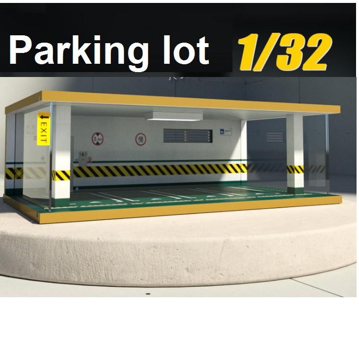 MÔ HÌNH GARAGE TRƯNG BÀY XE Ô TÔ MÔ HÌNH CÓ ĐÈN LED 1:32 để được 4 xe