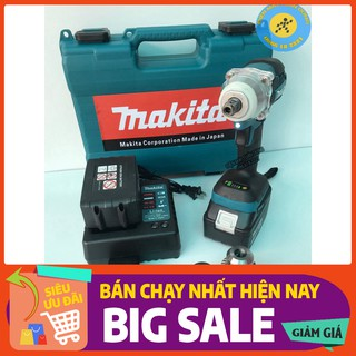 Máy siết bulong Makita 72v, 2 pin, đầu 2 trong 1, 100% dây đồng, không chổi than, tặng đầu khoan [CAM KẾT CHÍNH HÃNG]