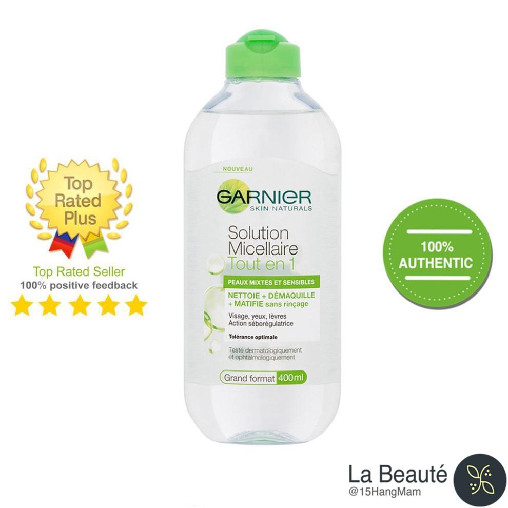 Garnier Skin Active Solution - Nước Tẩy Trang Dành Cho Da Hỗn Hợp Dầu Nhạy Cảm 400ml