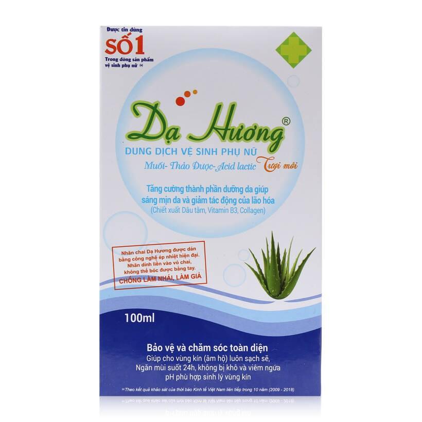 Dung dịch vệ sinh - Dạ Hương 100ml - An toàn, không khô rát, phù hợp sinh lý vùng kín phụ nữ Á Đông