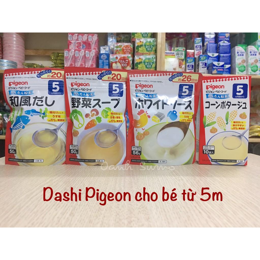Bột Dashi Pigeon Nhật cho bé ăn dặm (date 2020)