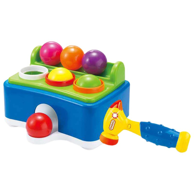 Kids Hammer Table Ball Pounding Toy with Sound Effects Electric Music Children