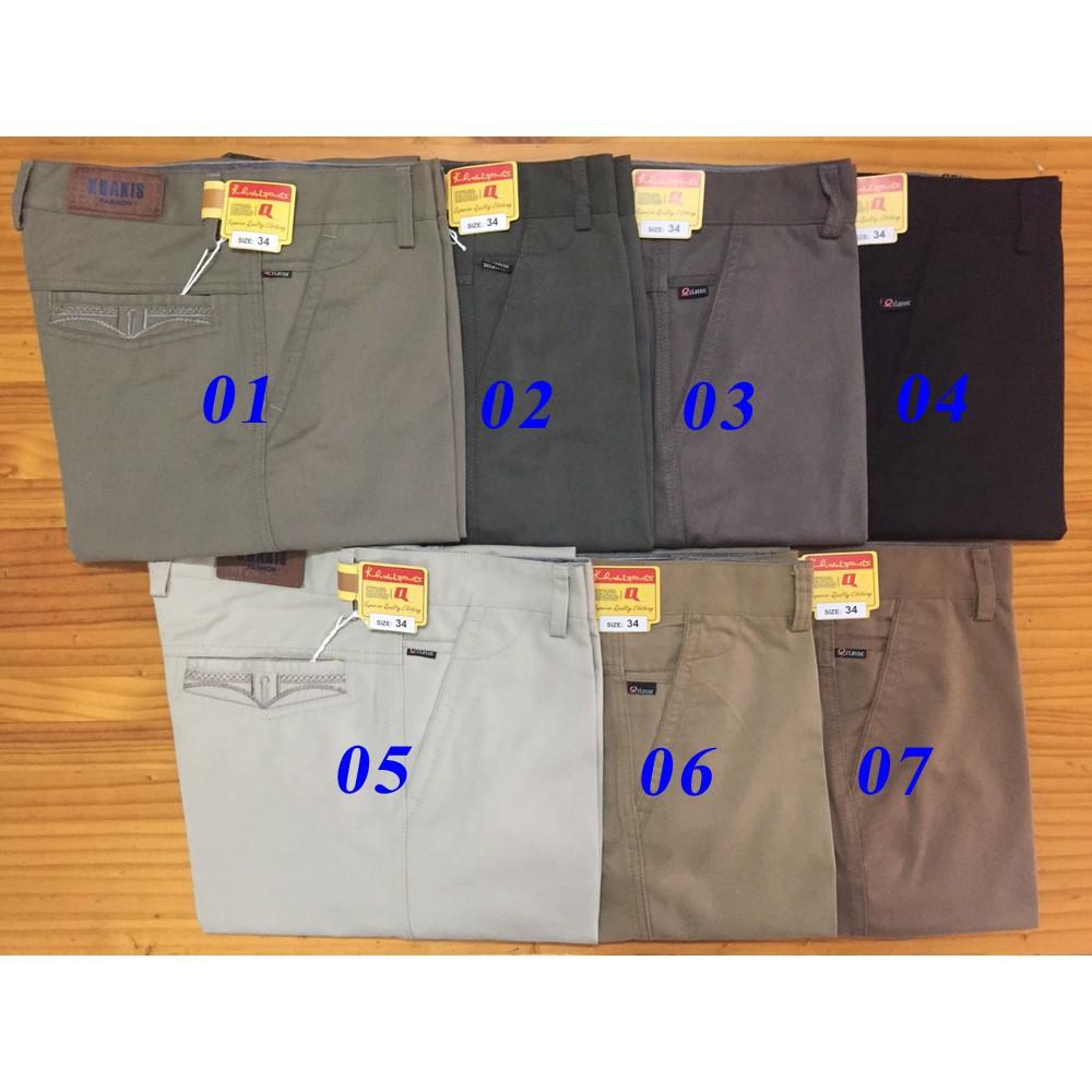 quần kaki trung niên các màu tổng hợp