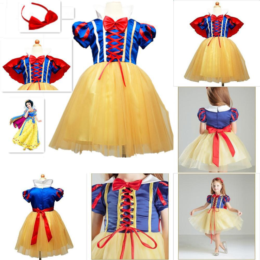Bộ đầm hoá trang công chúa Bạch Tuyết dễ thương cho bé gái