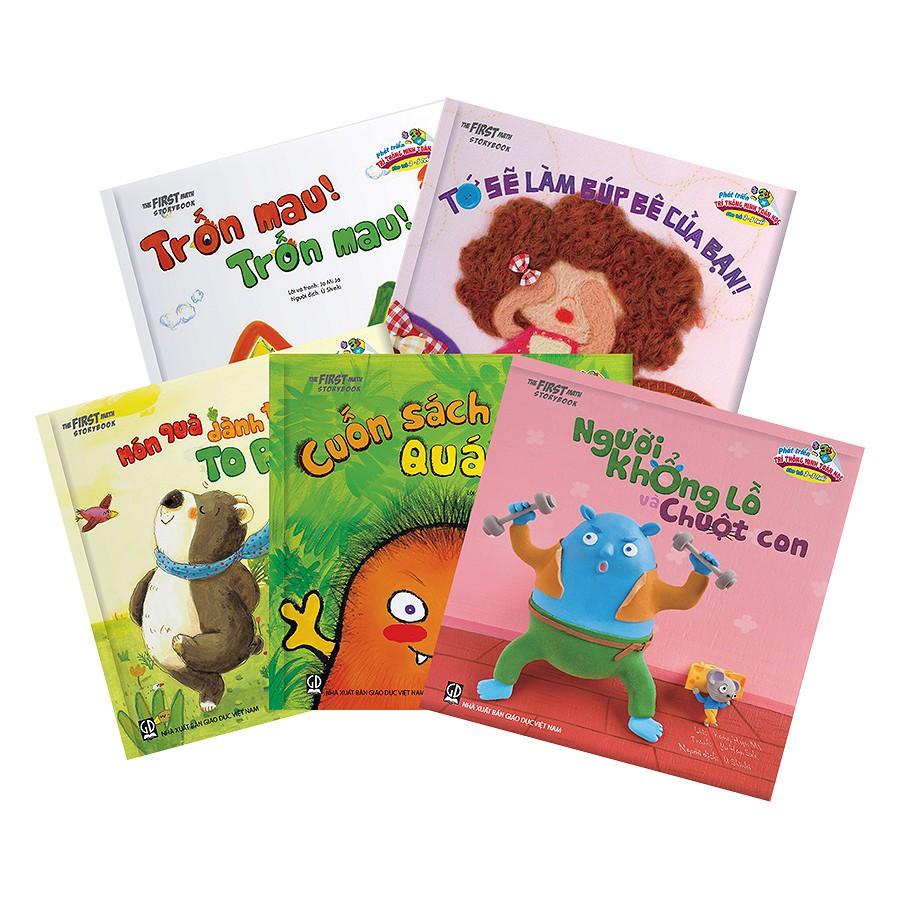 Sách Phát triển trí thông minh toan học 2-5 tuổi (trọn bộ 5 cuốn các trang đều là bìa cứng)