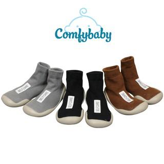 Giày bún tập đi dạng tất cao cổ đế cao su chống trượt -  phong cách Hàn Quốc Comfybaby GB001 - chính hãng