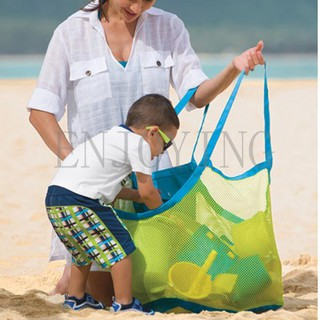 Hot New Sand Away Carry All Beach Toys Clothes Mesh Bag Tote Beach Bag XL Size