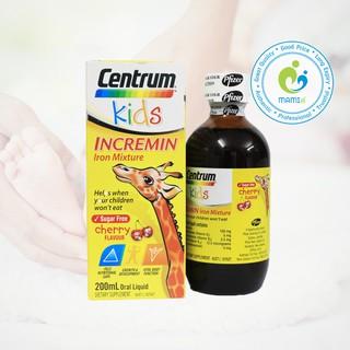 Siro (200ml) giúp ăn ngon miệng và hấp thu tốt hơn cho trẻ từ 6 tháng tuổi Centrum Kids Incremin Iron Mixture, Úc thumbnail
