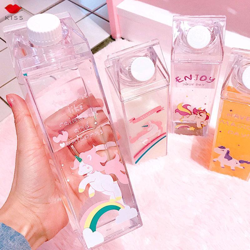 Bình nước nhựa 500ml hình dễ thương