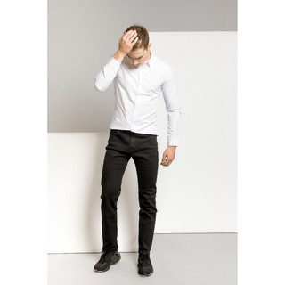 [FREE SHIP] Quần Jeans Đen Slim Fit Cotton Cao Cấp
