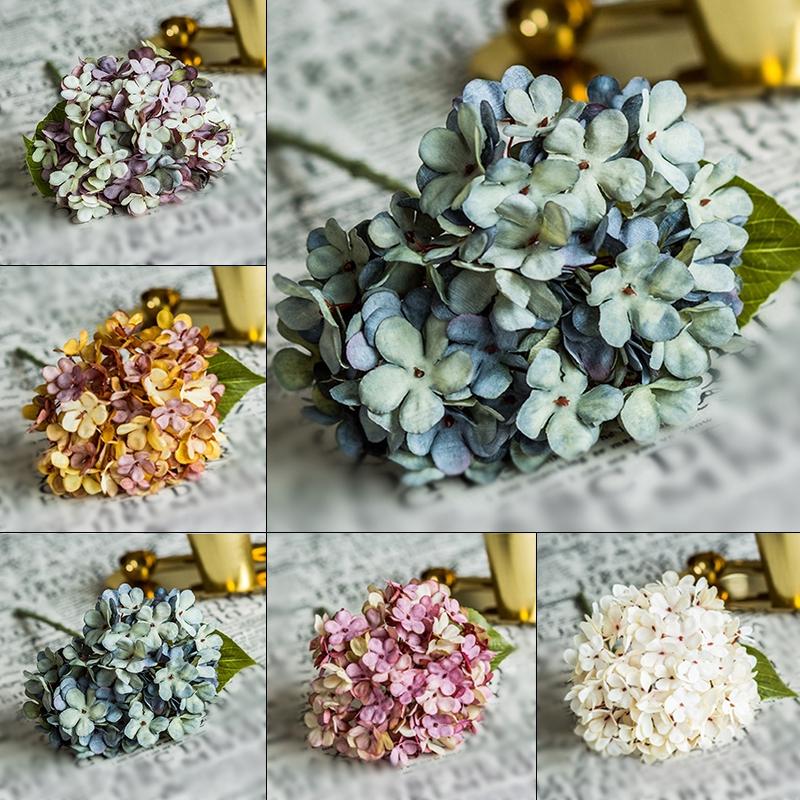 Artificial Flower Cafe Display Design Hydrangea Fake Home Wedding Decoration Handmade DIY Accessories Courtyard