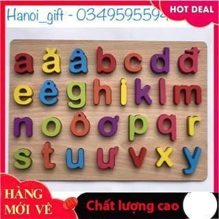[Giảm giá] Bảng chữ gỗ nổi – chữ cái in thường Tiếng Việt_Đảm bảo chất lượng