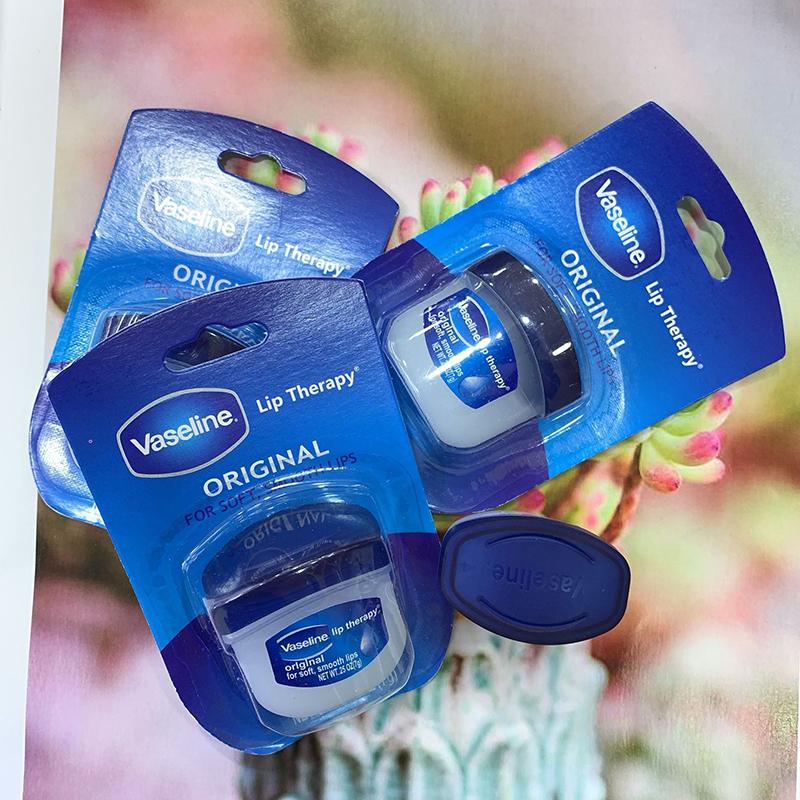 Son dưỡng môi Vaseline 7g không màu giữ ẩm và hydrat hóa