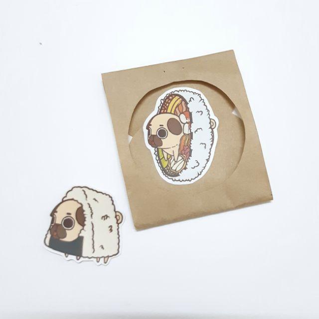 Sticker nhám puglie dán trang trí planer, scrapbook, điện thoại, laptop,....size nhỏ 3-5cm