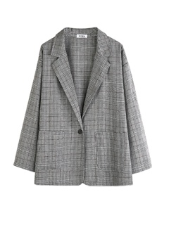 [Mã FAGREEN245 giảm 10% tối đa 30K đơn 99k] Áo vest kẻ Blazer mẫu mới ASS012109