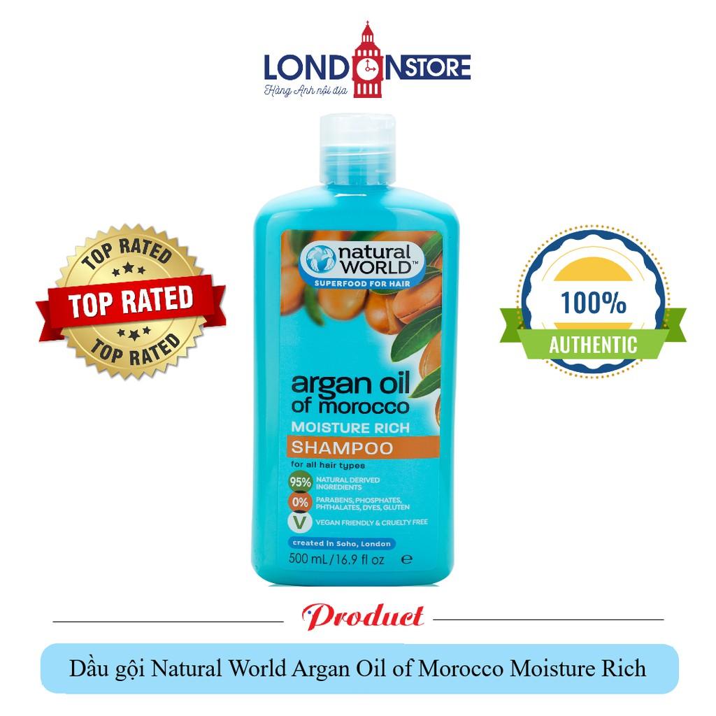 Hàng UK - Dầu gội Nautal world argan oil of morocco