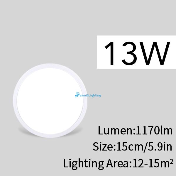 Đèn Led Gắn Trần Nhà Ánh Sáng Trắng Lạnh 18w 24w 36w 48w