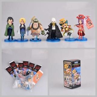 Set 6 Mô Hình Nhân Vật Phim Hoạt Hình One Piece Bằng Pvc