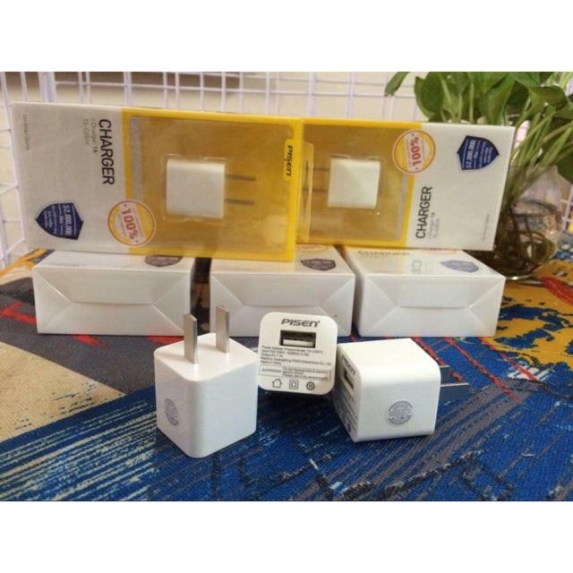 Củ sạc iphone 6/6s,6plus/6splus,7plus/8plus,X/Xsmax chính hãng pisen bảo hành 18 tháng lỗi 1 đổi 1