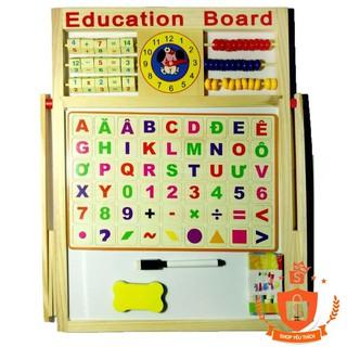 Bảng từ 2 mặt education Board và bộ số kèm bảng gỗ có núm phương tiện – BẮC TỪ LIÊM