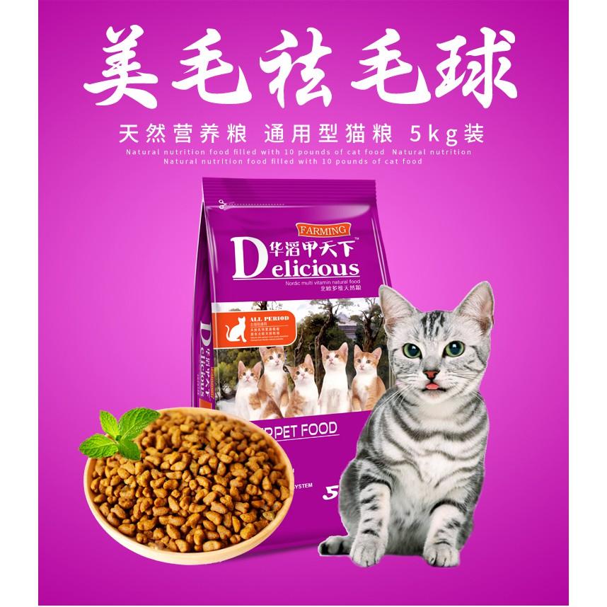 [Có sẵn] 5kg Thức ăn cho mèo Delicious nội địa QC