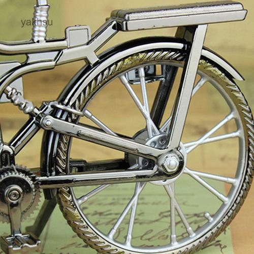 Đồng hồ báo thức hình chiếc xe đạp kiểu cổ điển để trang trí nhà cửa